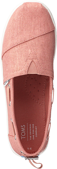 Coral Pink Shimmer Canvas Coral