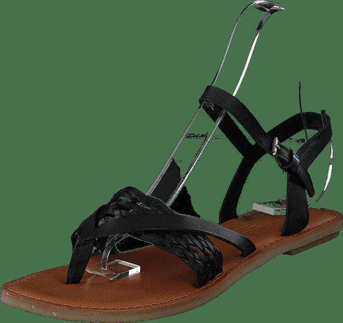 Toms - Black Leather Black