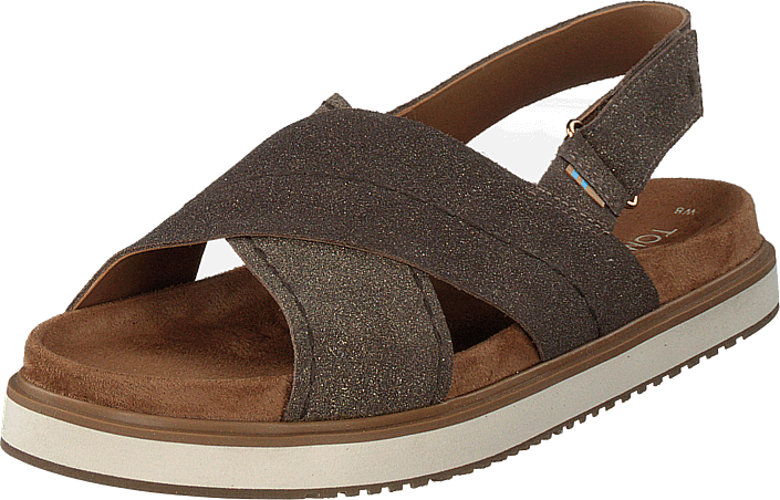 Toms - Dusty Gold Star Suede Brown Metallic