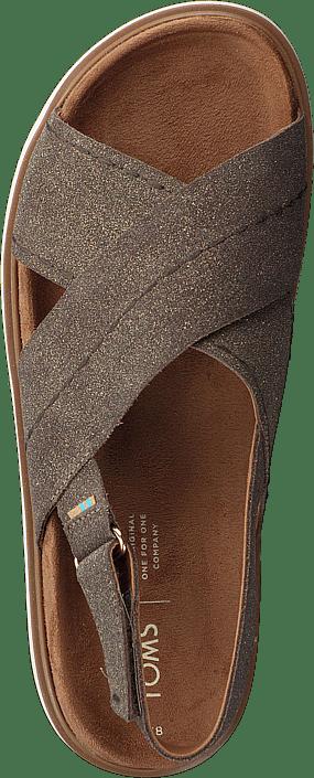 Dusty Gold Star Suede Brown Metallic