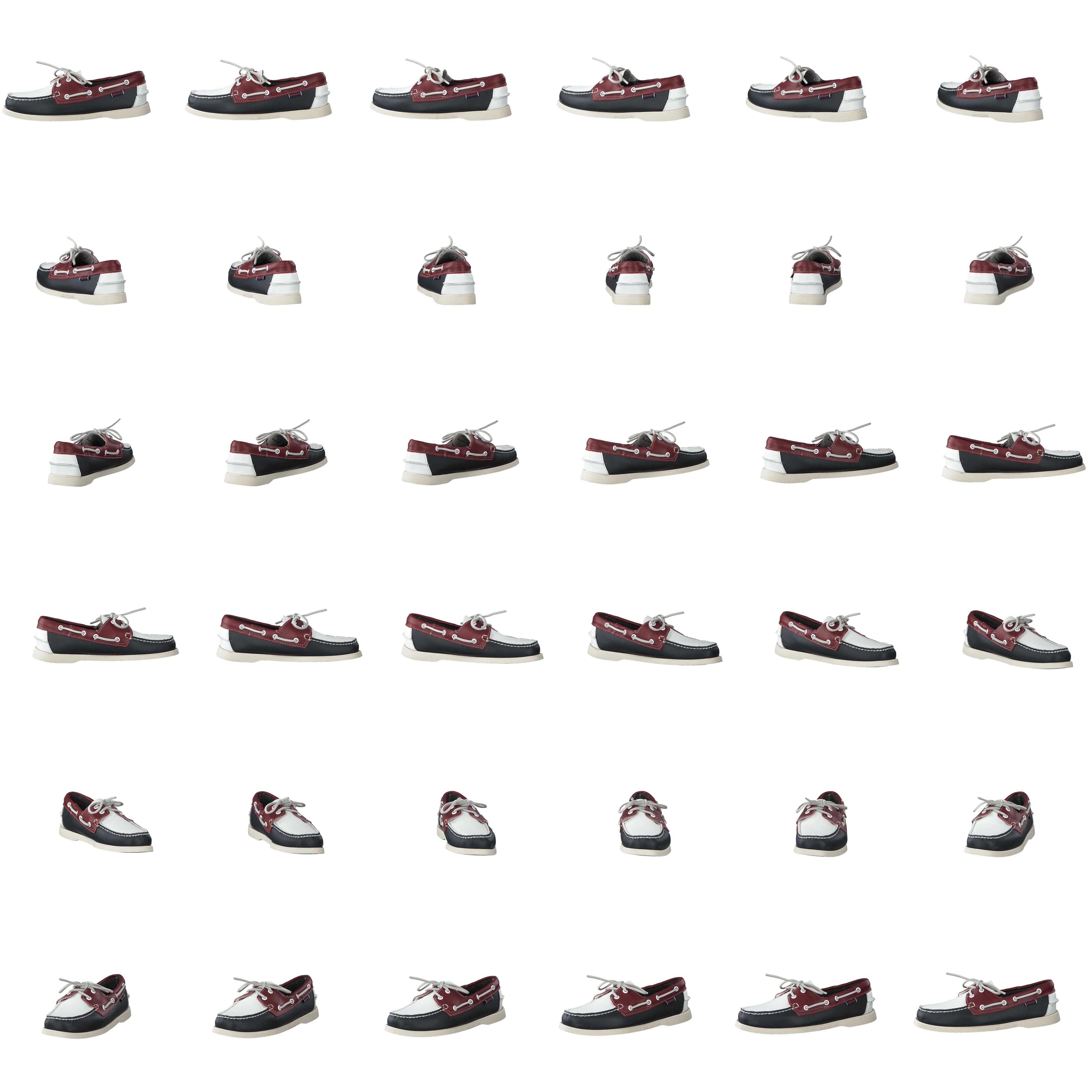 Kjøp Sebago Portland Spinnaker Navyredwhite sko Online