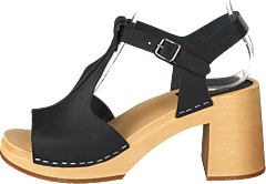 Stitchy Sandal Black