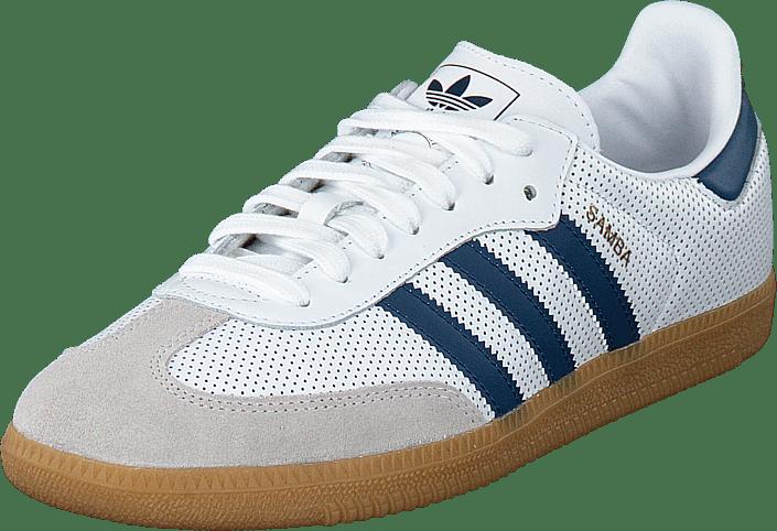 56bdadbd298 Køb adidas Originals Samba Og Ftwwht/legmar/greone blå Sko Online ...