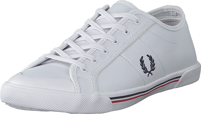 Fred Perry - Ellerton Tipped Leather White/navy