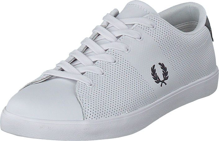 Fred Perry - Lottie Perf Leather White/navy