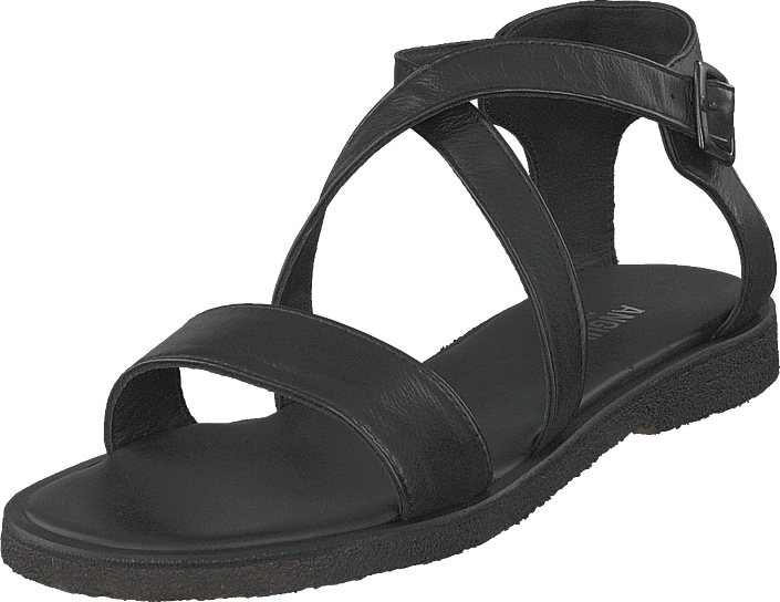 Angulus - Sandal With Buckle Black
