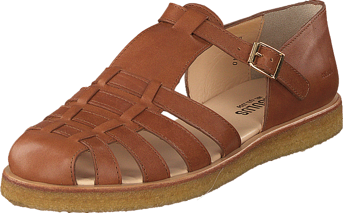 Strap Sandal With Buckle Tan