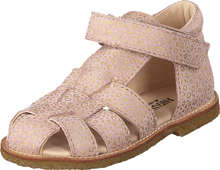 Angulus - Fisherman Sandal With Velcro Powder Leopard
