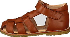 Fisherman Sandal With Velcro Cognac
