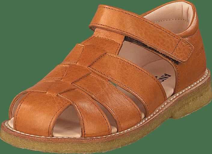 e36f8f06a208 Køb Angulus Fisherman Sandal With Velcro Cognac brune Sko Online ...