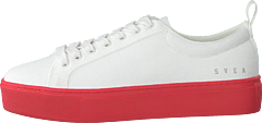 Arlo Three Antique White, Red Outsole