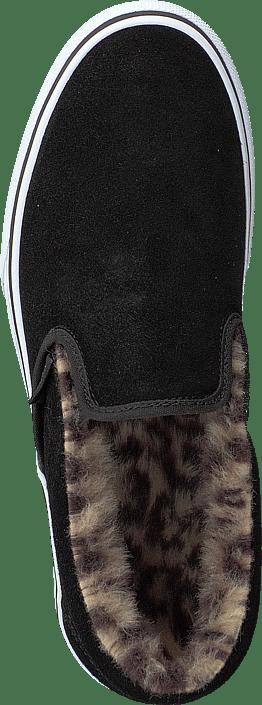 Vans - Ua Classic Slip-on Platform (suede/fur) Black/leopard