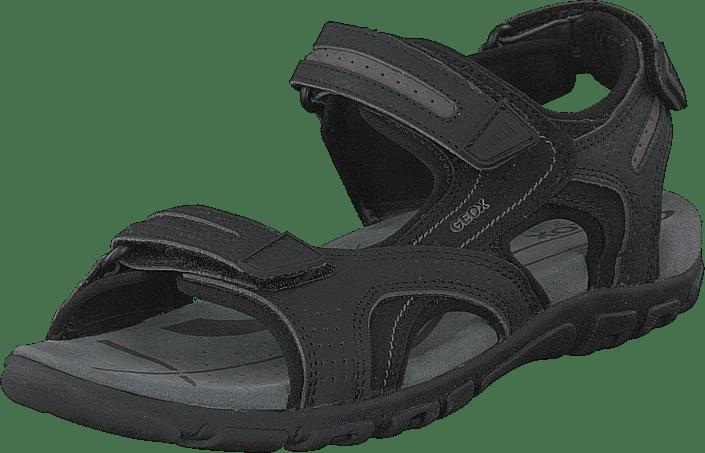 Geox - Uomo Sandal Strada Black/stone