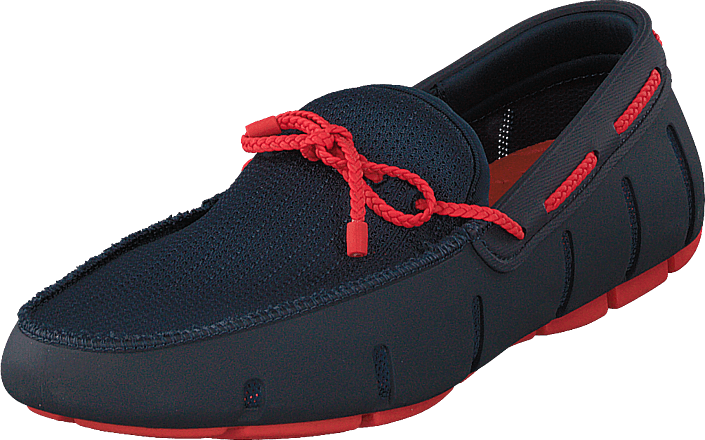 Braided Lace Loafer Navy / Red Alert