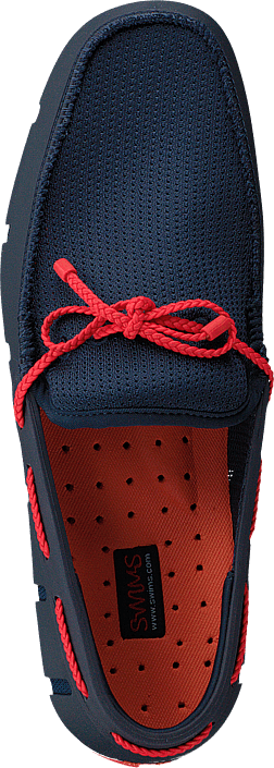 Hommes Chaussures Acheter Swims Braided Lace Loafer Navy / Red Alert Chaussures Online