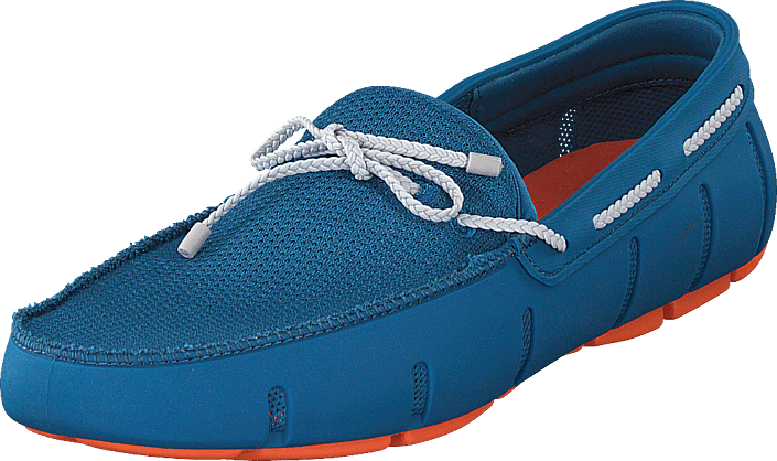 Swims - Braided Lace Loafer Seaport Blue / Alloy