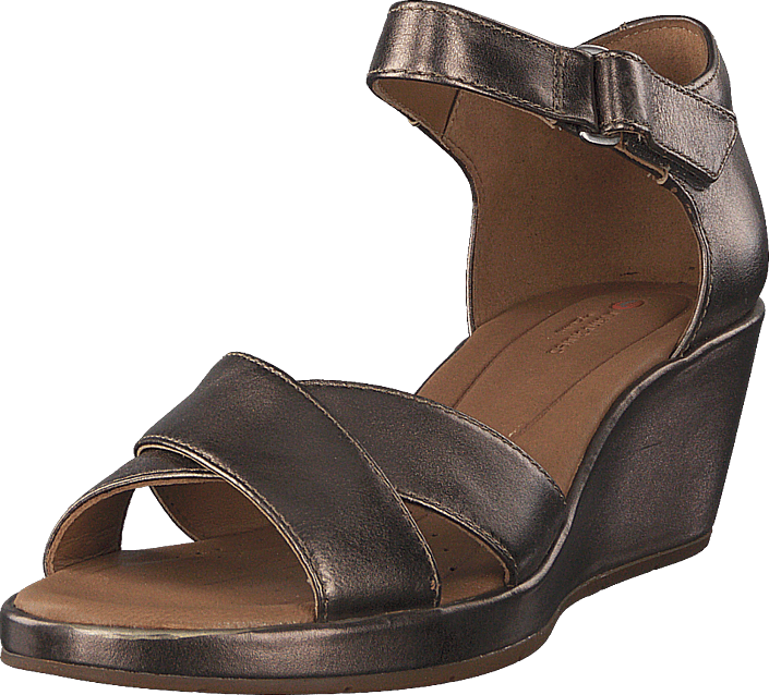 Clarks - Unplaza Cross Pebble Metallic