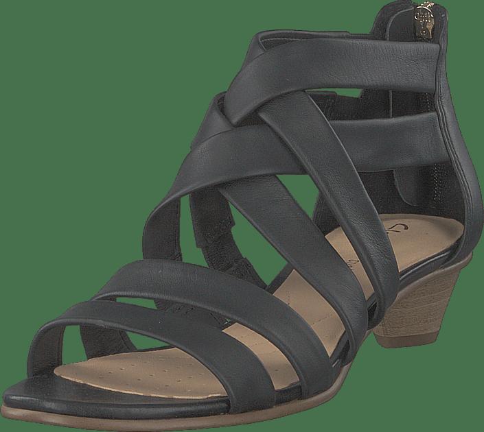 Mena Silk Black Leather