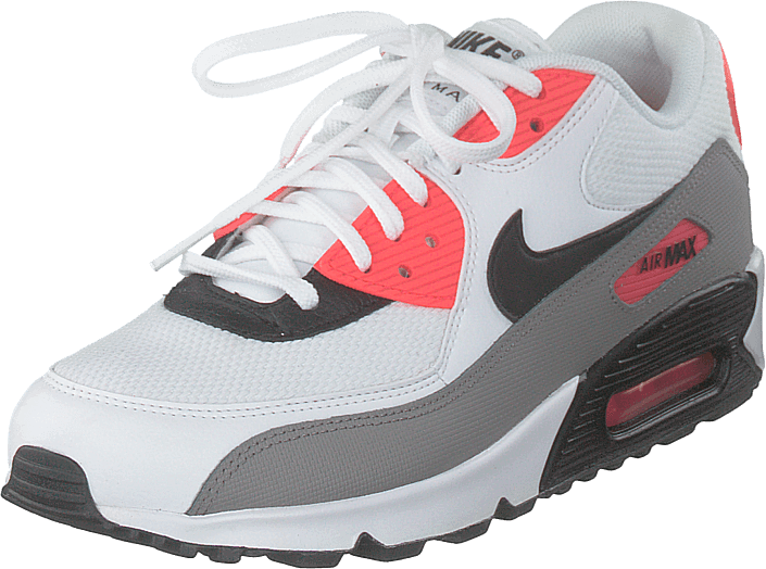 Air Max 90 White Black Dust Solar Red (W)