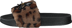 Sandal Fur Brown Leopard