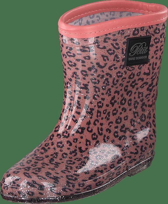 6d88b54d0ee Køb Petit by Sofie Schnoor Rubber Boot Baby Leopard - Pink lyserøde ...