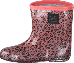 Rubber Boot Baby Leopard - Pink