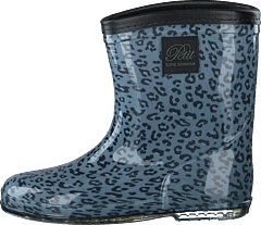 Rubber Boot Baby Leopard - Blue