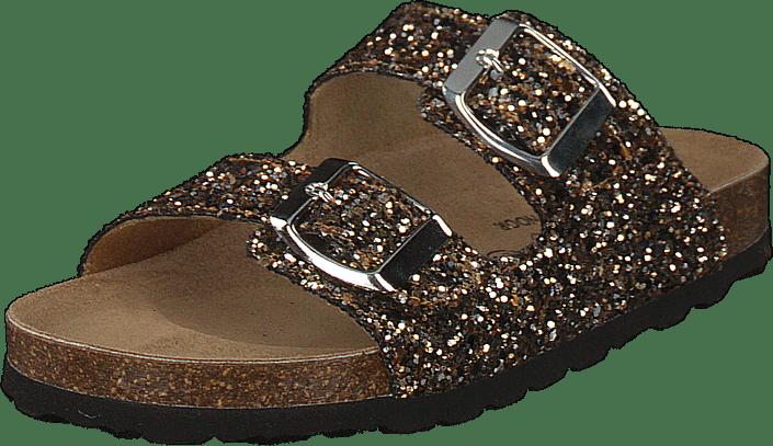 Petit by Sofie Schnoor - Sandal Glitter, 2 Straps Black Gold