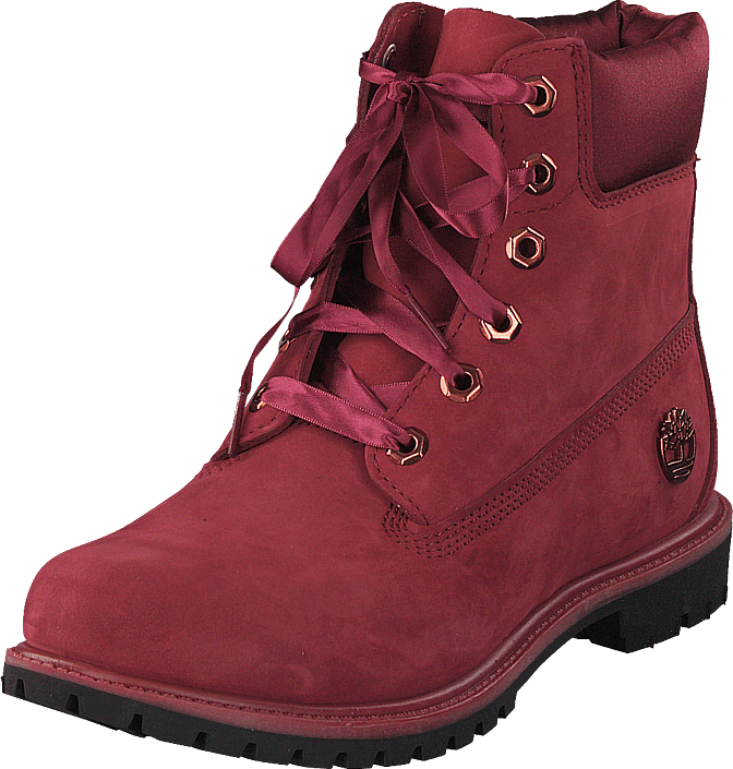 Timberland - 6 Inch Premium WP Boot L/satin Pomegranate Waterbuck