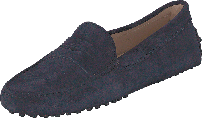 Tod's - Gommino Suede Moccasins Galassia Scuro
