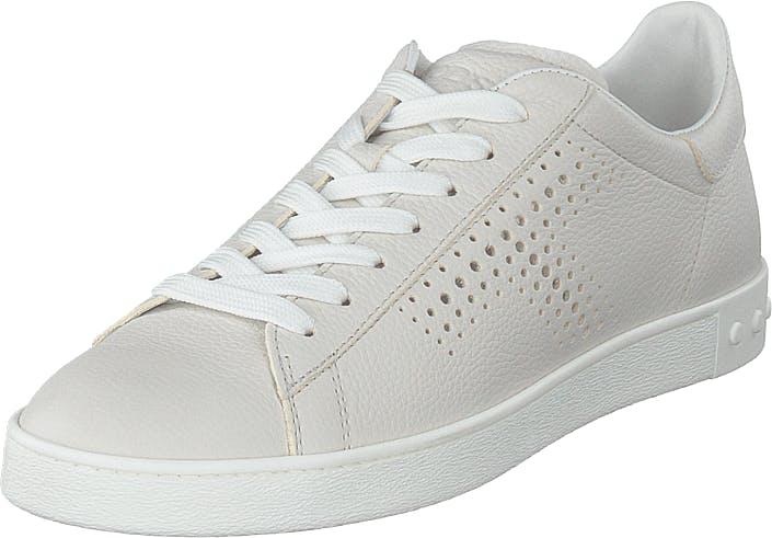 Tod´s Leather Sneakers Bianco Calce, Sko, Sneakers & Sportsko, Lave Sneakers, Grå, Dame, 37
