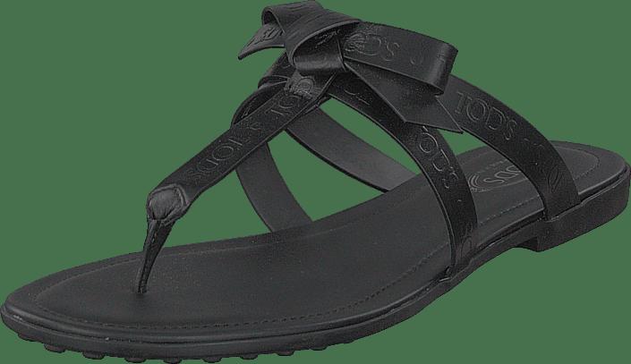 Tod's - Gomma Bow Sandal Nero
