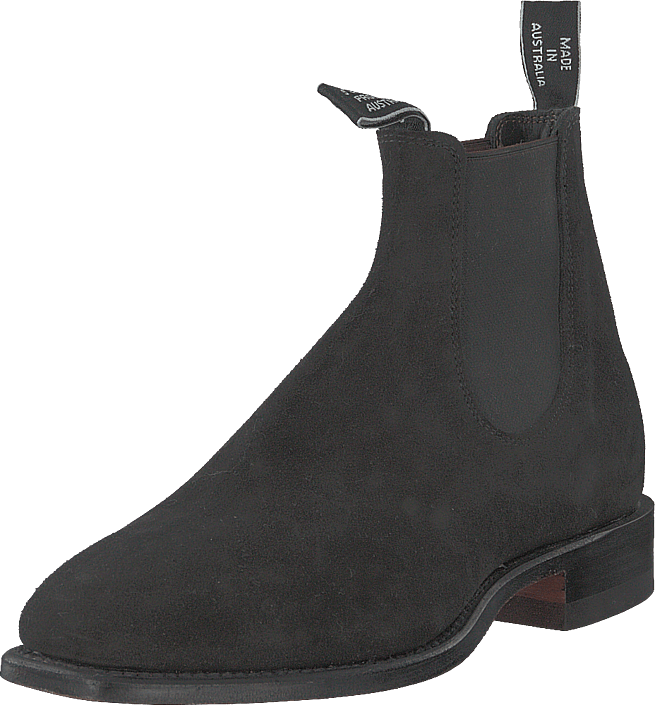 RM Williams - Suede Craftsman (G Fit) Black