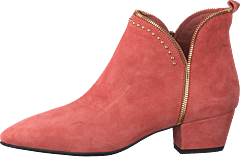 Boot Raw Zip Suede Cher - Cherry