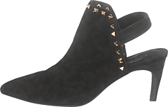 Shoe Stiletto Slipper Blk - Black
