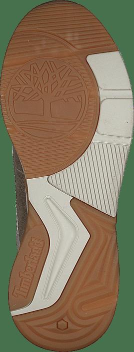 Delphiville Leather Sneak Gold Suede