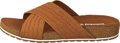 Malibu Waves Cross Slide Rust Embossed Suede