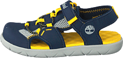 Perkins Row Fisherman Navy/yellow