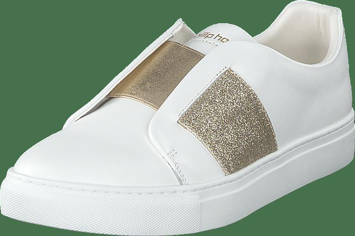 Flats Elastic Gold Sko Hvite Kjøp Philip Hog Online White 8qWwxf1z
