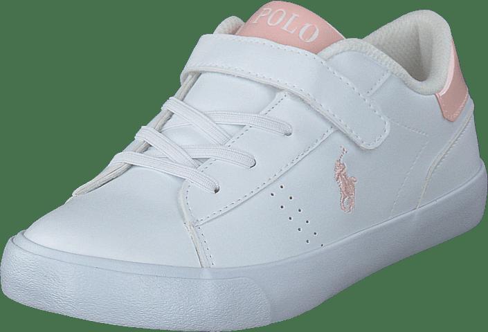 Ralph Lauren Junior - Pierce Ez White With Pink