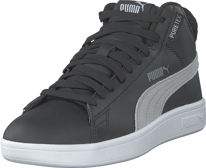 Puma - Smash V2 Mid Puretex Jr Puma Black-puma White