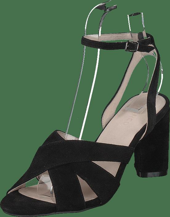 Bianco - Carlie Suede Sandal 101 - Black 1