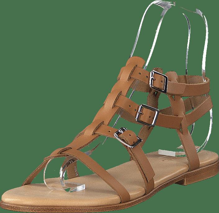 Bianco - Caia Leather Sandal 240 - Cognac