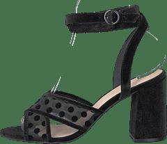 3a930b1a4859 Bianco - Cali Velour Dots Sandal 104 - Black 4