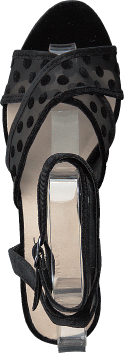 Cali Velour Dots Sandal 104 - Black 4