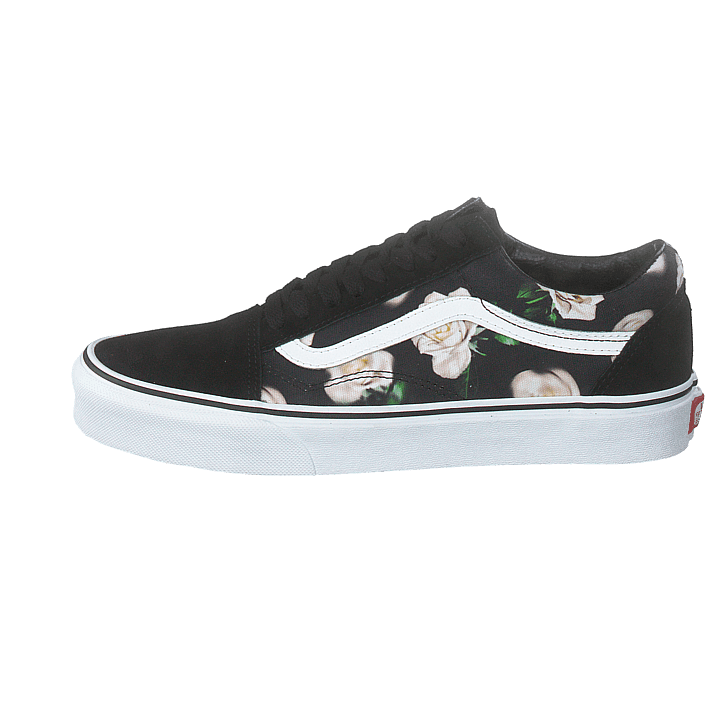Ua Old Skool (romantic Floral) Blackt