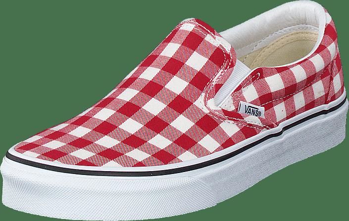 Vans - Ua Classic Slip-on (gingham) Racing Red/true