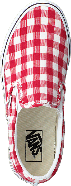 Vans - Ua Classic Slip-on (gingham) Racing Red/true