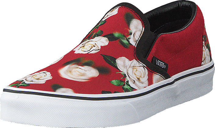 f0664588ac46 Buy Vans Ua Classic Slip-on (romantic Floral) Chili P red Shoes Online