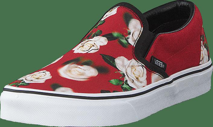 Vans Herre Vans Romantic Floral Slip On Sko Herre Chili